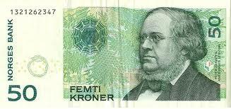 Nok Norwegian Krone Kr50 Bill Front