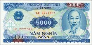 Vnd Dong 5 000 Bill Front