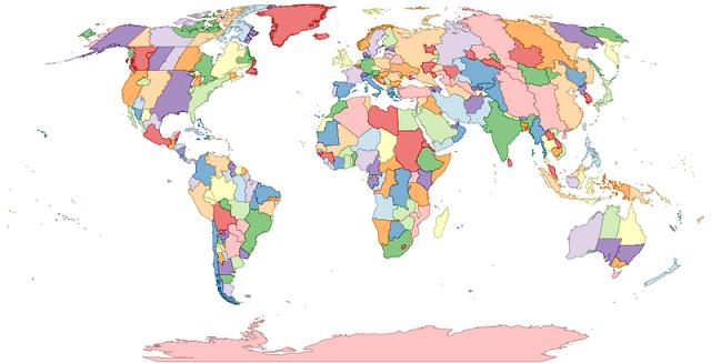 World Map of Regional Time Zones
